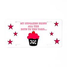 Killer Cupcakes Aluminum License Plate