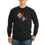 Tropical Fishes Long Sleeve Dark T-Shirt