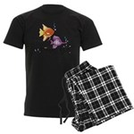 Tropical Fishes Men's Dark Pajamas