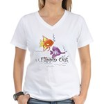 Tropical Fishes Women's V-Neck T-Shirt