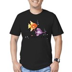 Tropical Fishes Men's Fitted T-Shirt (dark)