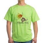 Tropical Fishes Green T-Shirt