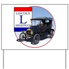 The Lincoln Highway Yard Sign