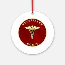 Veterinary Corps Ornament (Round)