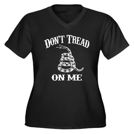 Don't Tread On Me! - Women's Plus Size V-Neck Dark