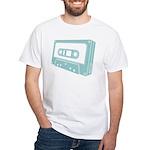 Blue Cassette Tape White T-Shirt