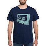 Blue Cassette Tape Dark T-Shirt