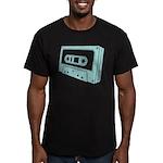 Blue Cassette Tape Men's Fitted T-Shirt (dark)