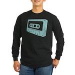 Blue Cassette Tape Long Sleeve Dark T-Shirt