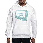Blue Cassette Tape Hooded Sweatshirt