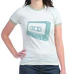 Blue Cassette Tape Jr. Ringer T-Shirt