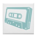 Blue Cassette Tape Tile Coaster