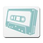 Blue Cassette Tape Mousepad