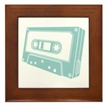 Blue Cassette Tape Framed Tile