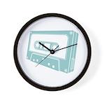 Blue Cassette Tape Wall Clock