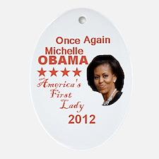 Michelle 2012 Ornament (Oval)