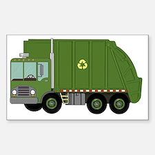 Unique Garbage truck Sticker (Rectangle)