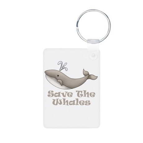 Save The Whales Aluminum Photo Keychain