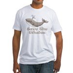 Save The Whales Fitted T-Shirt