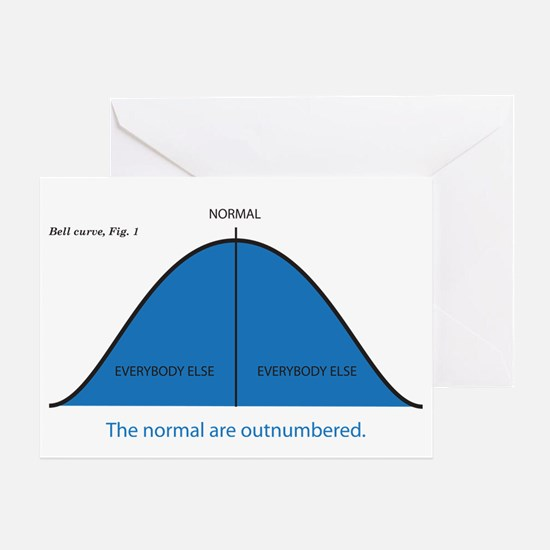Normal bell curve Greeting Card