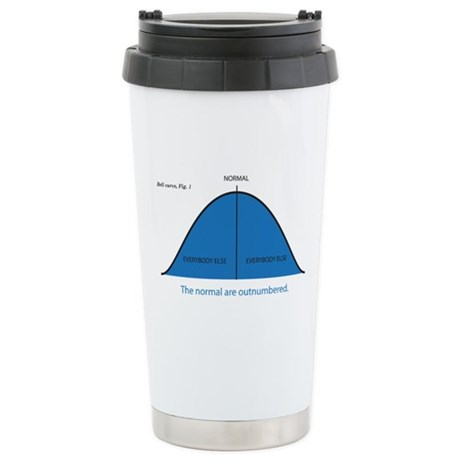 Normal bell curve Stainless Steel Travel Mug