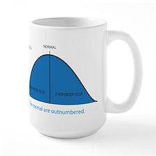Normal bell curve Mug