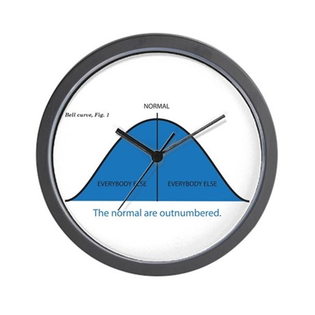 Normal bell curve Wall Clock