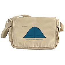 Normal bell curve Messenger Bag