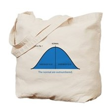 Normal bell curve Tote Bag