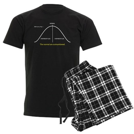 Normal bell curve Men's Dark Pajamas