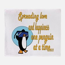 Cool Penguins Throw Blanket
