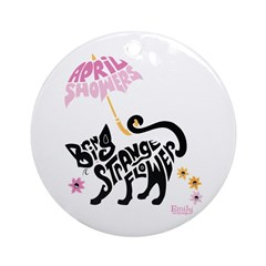 April Showers Ornament (Round)