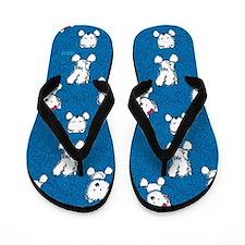 Blue Pocket Westie Flip Flops