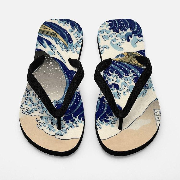 Great Wave Flip Flops