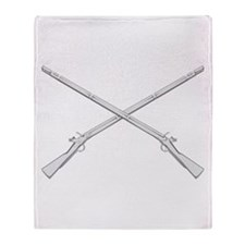 Crossed Muskets Throw Blanket