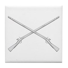 Crossed Muskets Tile Coaster
