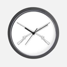Crossed Muskets Wall Clock