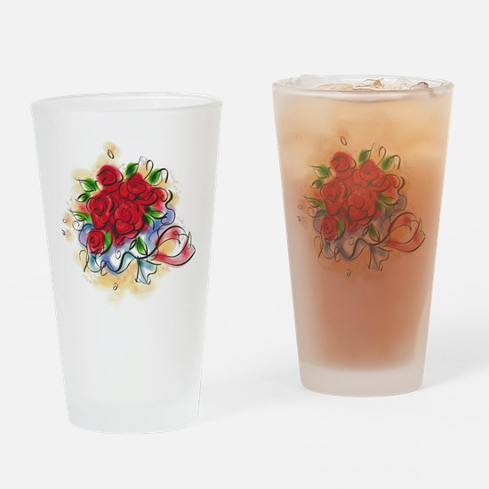 Bright Florals Drinking Glass