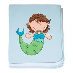 Pretty Little Mermaid baby blanket