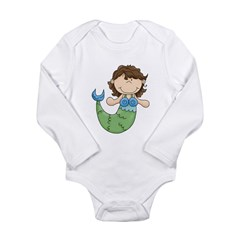 Pretty Little Mermaid Long Sleeve Infant Bodysuit