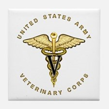 Army Veterinary Tile Coaster