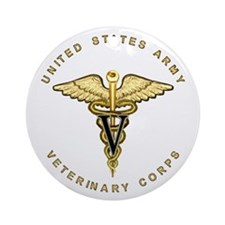 Army Veterinary Ornament (Round)