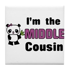 I'm the Middle Cousin Tile Coaster