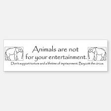Animals are not entertainment Bumper Bumper Bumper Sticker