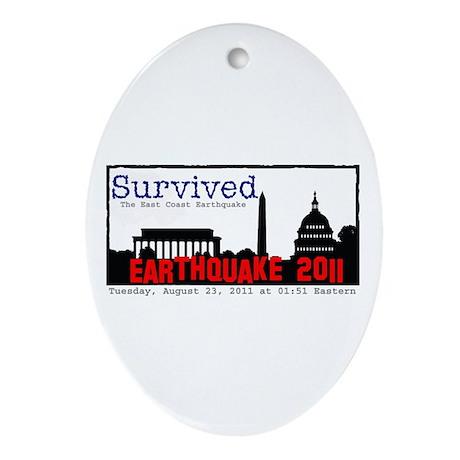Survived Quake Ornament (Oval)
