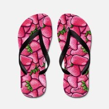 Strawberry Field Flip Flops