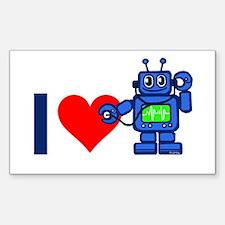 I heart robot Decal