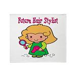Future Hair Stylist Throw Blanket