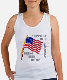 Support Our Troops Bring Them Home Women's Tank To