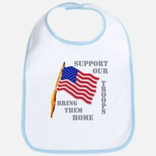 Support Our Troops Bring Them Home Bib